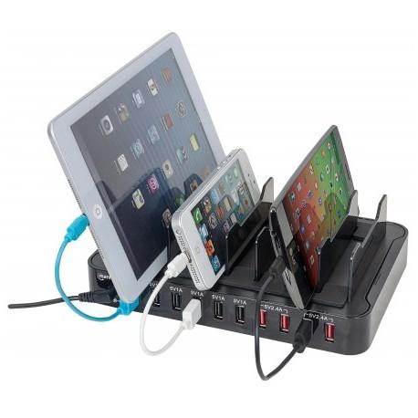 ESTAÇÃO DE CARREGAMENTO P/ SMARTPHONE + TABLET - 10 USB