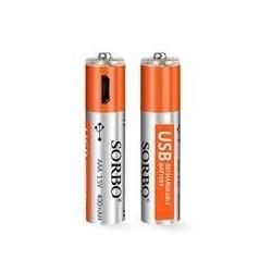 PILHA AAA LR3 CX/4 USB RECARREGAVEIS