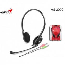 AUSCULTADORES HS-200C C/ MIC P/PC PRETO