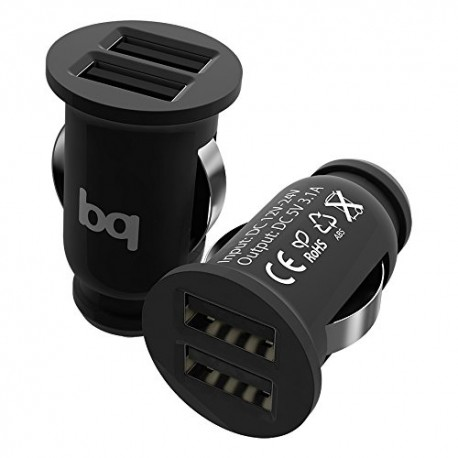 CARREGADOR PARA CARRO - QUICK CHARGE 3.0 + 2.4A PRETO