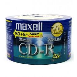 CD-R 700MB 52X R80 50+5 UNIDADES (911630)