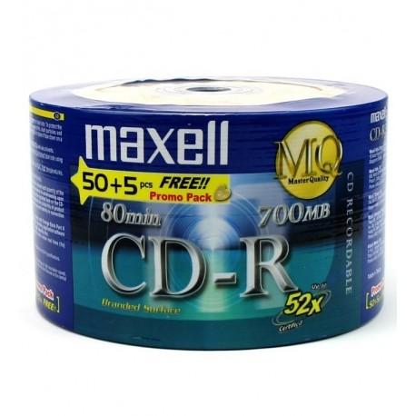 CD R80 52X PK/50 + 5UN MAXELL 911630