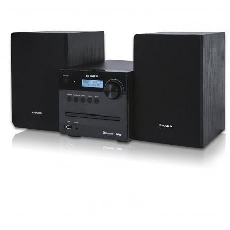 HI FI SHARP W/DAB, FM, CD, BT 2X15W BLK