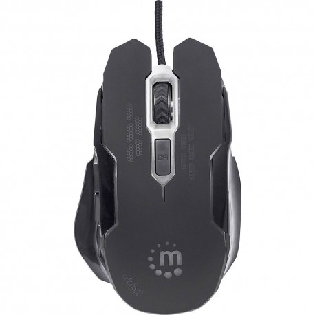 MOUSE MANHATTAN GAMING USB PRETO