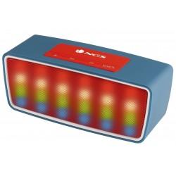 COLUNA COM BLUETOOTH 3W USB FM RADIO AZUL