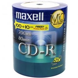 CD-R 700MB 52X R80 100+10 UNIDADES