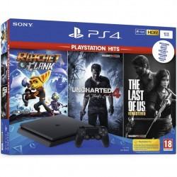 PLAYSTATION PS4 1TB + R&C + UCHT4 + TLOF