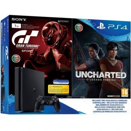 PLAYSTATION PS4 1TB+GT SPORT+UCHT+DS4