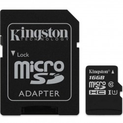 MOD MICRO SD 16GB CL10 C/ADPT KINGSTON
