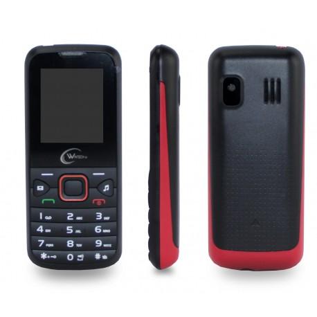 TELEMOVEL 2G DUAL SIM BT/MP3 BK/RED