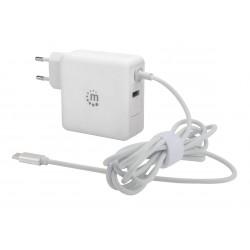 CARREGADOR USB-C (60W) COM PORTA USB-A (5 V/2.4 A)