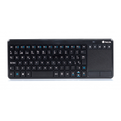 TECLADO SEM FIO WIRELESS TOUCHPAD MM KEYS TV WARRIOR PT