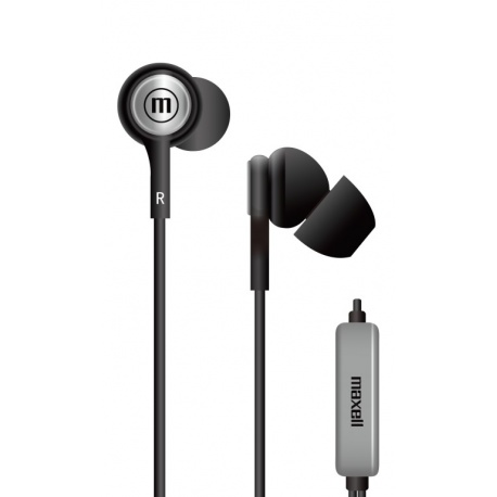 IN-EAR MAXELL EB STEREO W/MIC BLK 348120