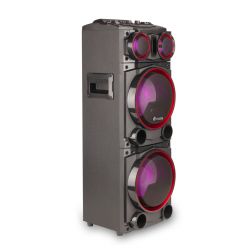 "COLUNA WILDPUNK1 300W DOUBLE 8"" BLUETOOTH USB/SD/FM RADIO"