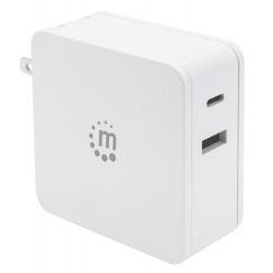 CARREGADOR USB-C (45W) USB-A (5 V/2.4 A) BRANCO