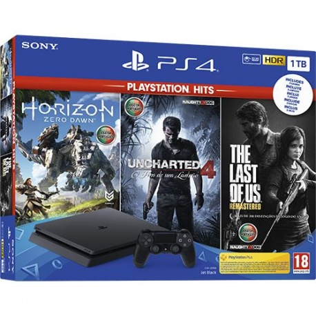 PLAYSTATION PS4 1TB HORIZON+UNCHARTED4+THE LAST