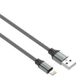CABO USB PARA LIGHTING/IPHONE 2M CINZENTO