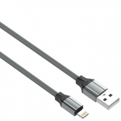 CABO USB PARA LIGHTNING IPHONE 1M CINZENTO