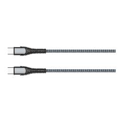 CABO USB-C PARA USB-C 1M CINZA