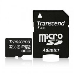 MOD MICRO SD 32GB CL4 C/ADAP TRANSCEND