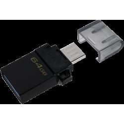 PEN DRIVE 64GB DUO3 MICRO USB OTG PRETO