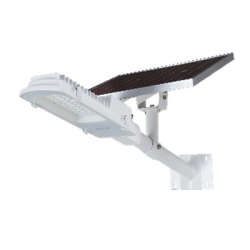 LUMINARIA LED POSTE EXTERIOR 50W + PAINEL SOLAR