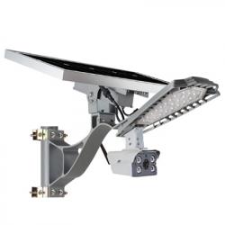 LUMINARIA LED EXTERIOR 60W + CAMERA VIGILANCIA 4G + PAINEL SOLAR
