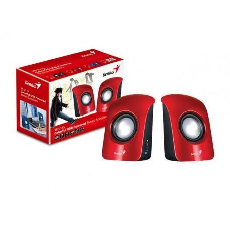 COLUNAS GENIUS SP-U115 1.5W USB RED