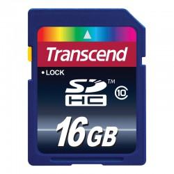 CARTÃO DE MEMÓRIA 16GB CL10 TRANSCEND