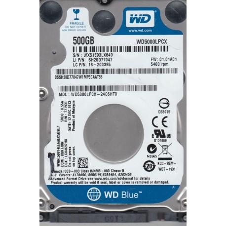 HD INT 2.5' 500G WD BL SATA 6G/S 5400RPM